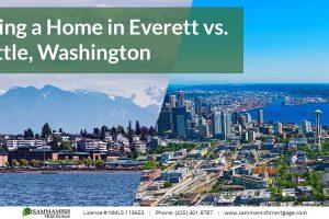 Buying a Home in Everett vs. Seattle, Washington: 2021 Comparison