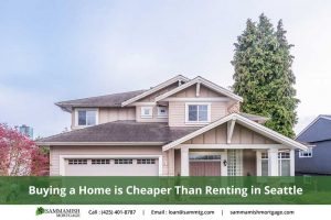 Buying a Home is Cheaper Than Renting in Seattle