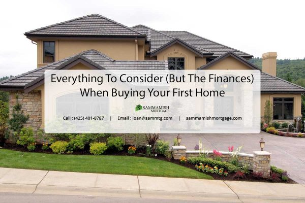 Everything To Consider But The Finances When Buying Your First Home
