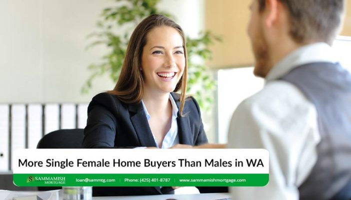 More Single Female Home Buyers Than Males in Washington
