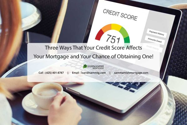 Three Ways That Your Credit Score Affects Your Mortgage and Your Chance of Obtaining One