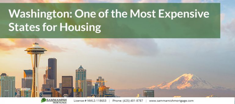 Washington One of the Most Expensive States for Housing