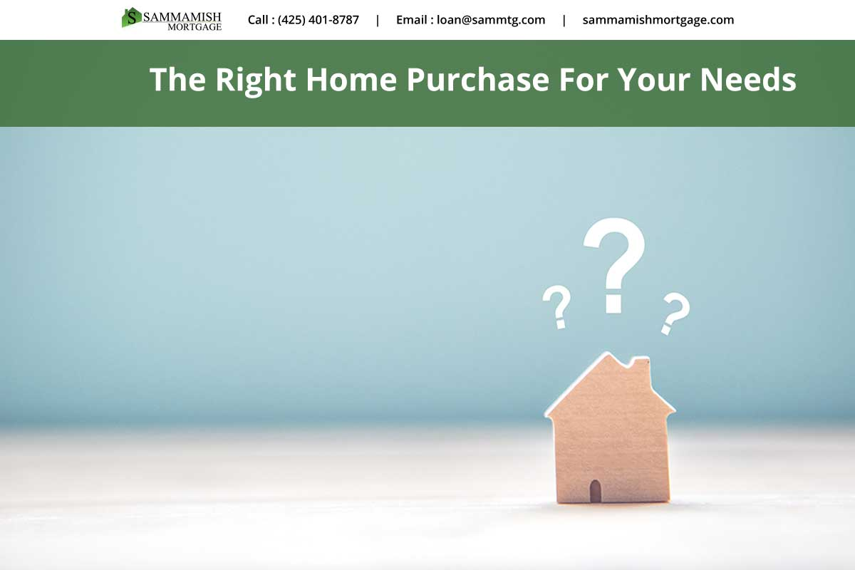 The Right Home Purchase For Your Needs